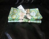 Retro green burp cloth