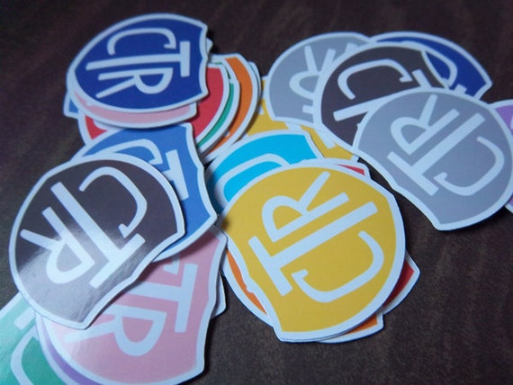 Small CTR Shield Sticker Pack - 24
