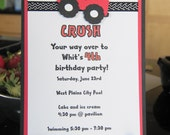 Monster Truck 5x7 Personalized Invitations -- Set of 10