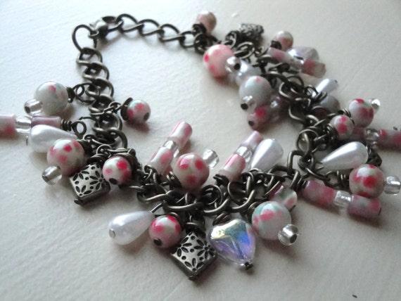 Sweet Pink Vintage Look Cha Cha Bracelet
