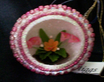 Pink Flower Arrangement egg by Aimee Aiggs