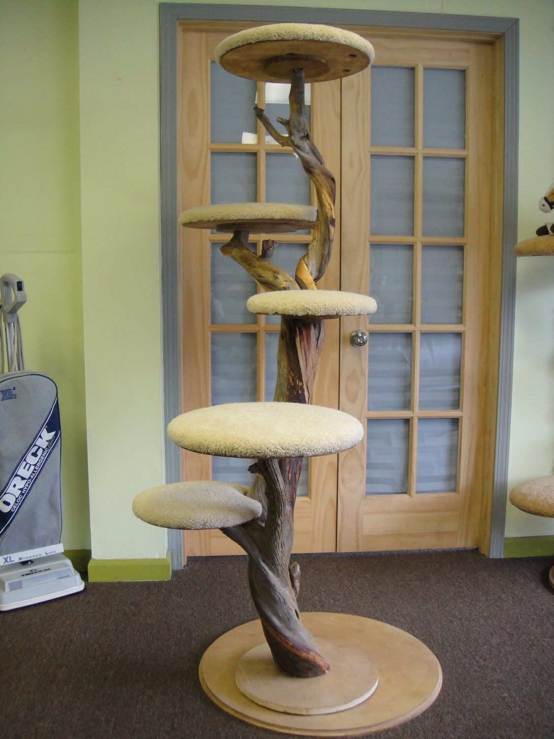 hand crafted one of a kind cat tree