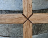 Oak Cross with Walnut inlay