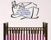 nursery bible verse wall art, noah ark