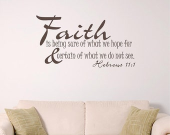 bible verse wall decal, faith home wall decal