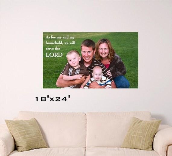 """Joshua 24:15 Family Photo 18""""x24"""""""