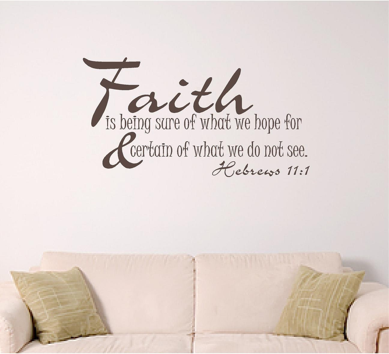 Bible Verse Wall Decal Faith Home Wall Decal