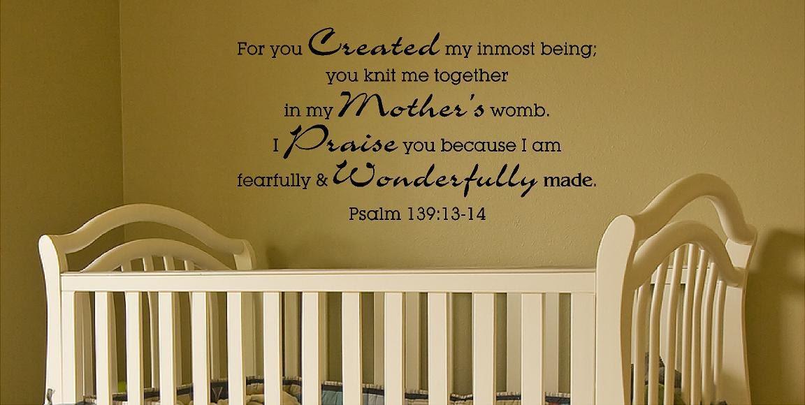 Scripture Wall Decal Nursery Bible Verse Wall Decal Psalm