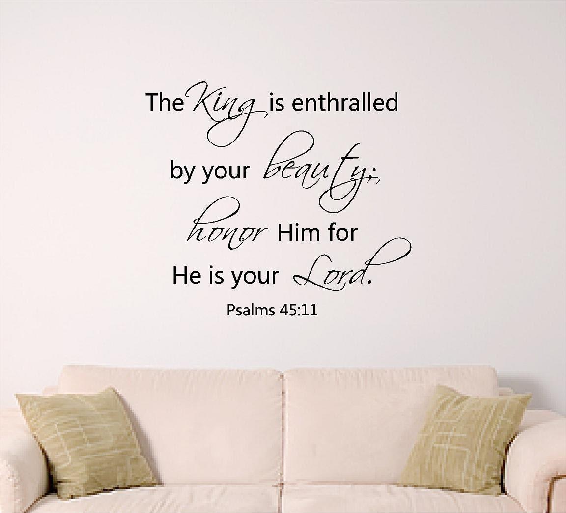 Bible Verse Wall Art Psalm 45 11