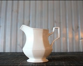 White Ceramic Creamer // Made in England