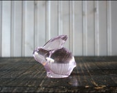 Glass Bunny Rabbit // Pink Rose