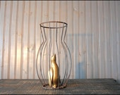 Wire Vase Cover // Industrial Decor