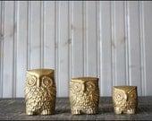 Brass Owl Trio // Solid Brass