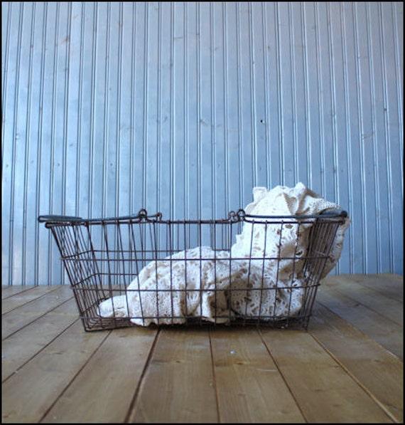 RESERVED /./ Farmers Market Basket // Industrial Storage