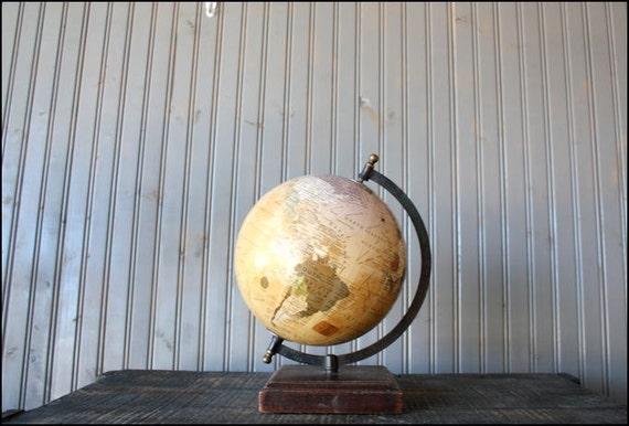 Small World Globe // Wood Base