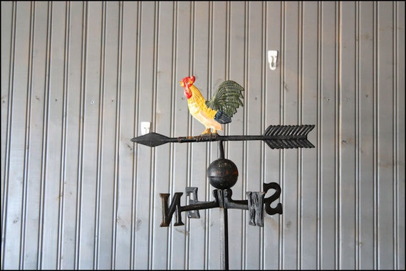 Rooster Weathervane // Wrough Iron
