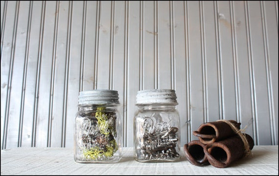 Glass Mason Jars // Industrial Storage