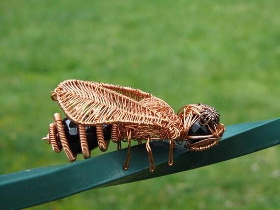 Bee Sculpture Steampunk in Copper