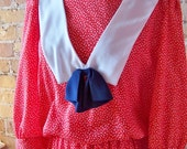 Red white and blue school girl dress