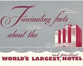 Vintage Booklet Stevens Hotel Chicago approx 1948
