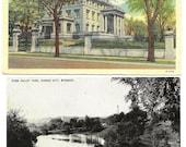 Vintage Kansas City, MO Postcards 1940s Penn Valley Park and KC Museum - Free Ship