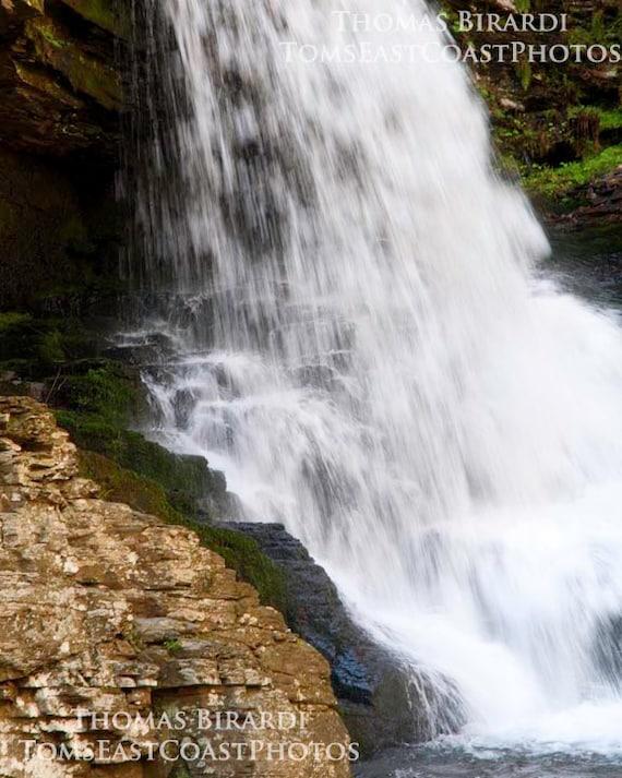 Waterfall photograph- Landscape photo-Rushing water- Nature Fine Art Print