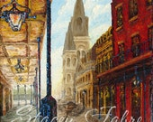 Chartres St. - Matted to fit a 11x14 - PRINT