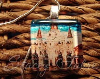St. Louis Cathedral Art Pendant