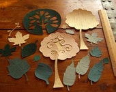 Tree and Leaf Die Cut Collection