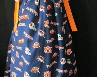 Auburn University Tigers War Eagle Custom Pillowcase Dress 12 mos, 18 mos, 2T, 3T, 4T, 5, 6, 7