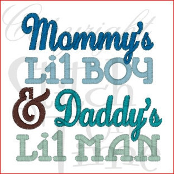 Mommy S Little Boy Daddy S Little Man Embroidered Tee