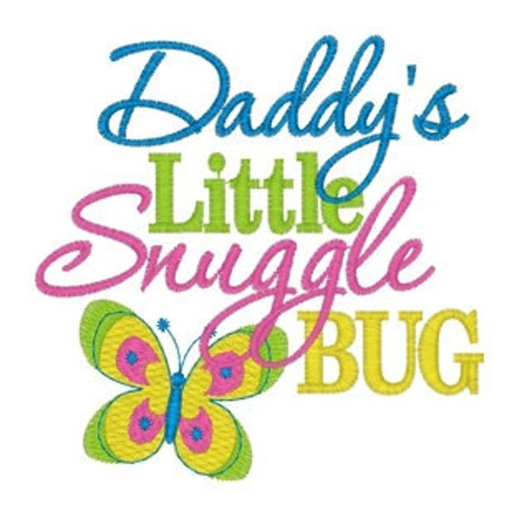 Daddy's Little Snuggle Bug Embroidered Tee Sizes 12 Mos 2