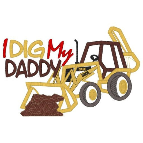 I Dig My Daddy Embroidered Tee Sizes 12 mos, 2 4 6 8 10  Perfect for Father's Day