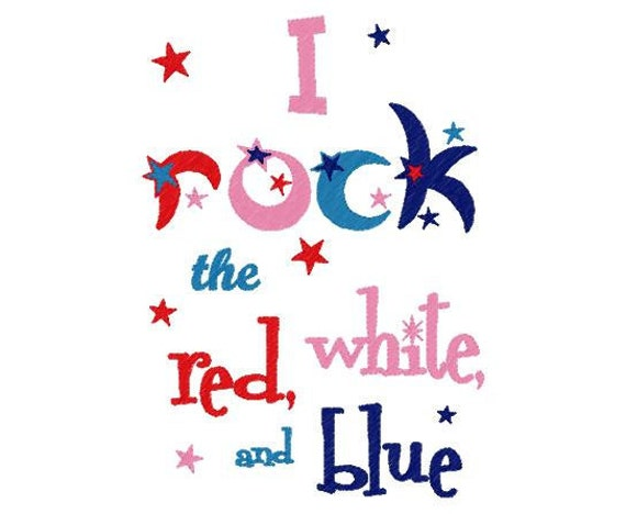 Rock the Red, White and Blue 4th of July T shirt Sizes 2 4 6 8 10 12
