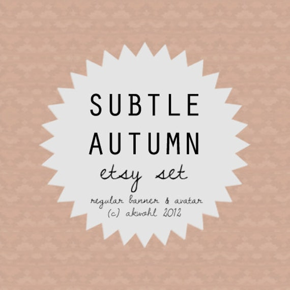 Subtle Autumn - etsy banner & avatar set