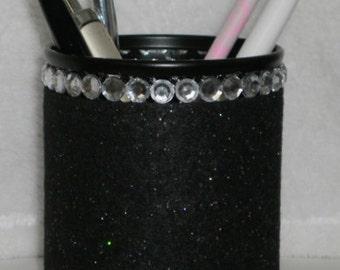 Black & Bling Pen/Pencil Cup Holder