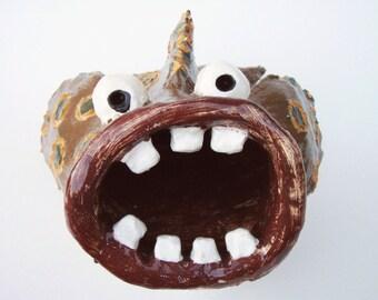 Ceramic Sculpture Spotted Fish