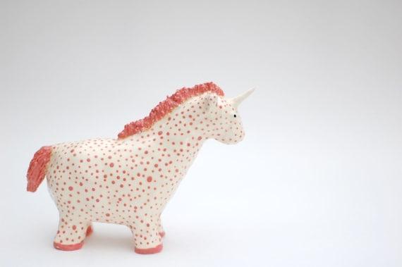 Pink Polka Dotted Unicorn