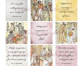 """Pride and Prejudice (048) 1 inch square digital images collage sheet 4x6"""""""