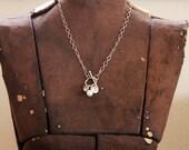 """Pretty Pearl & Rhinestone 18"""" necklace"""