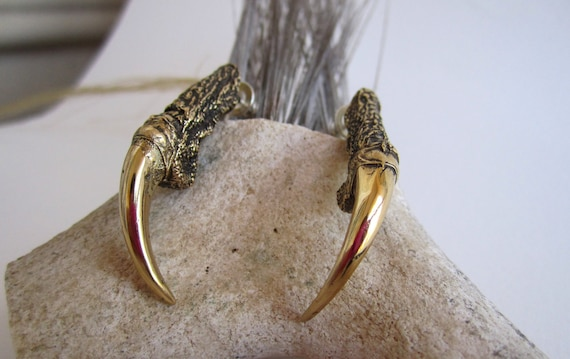 The Hunted - Bronze Owl Talon Earrings