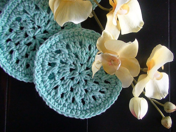 Instant Download - PDF PATTERN Crochet Spiral Coasters  - Permission to Sell Finished Items