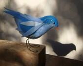 Little Blue  Bird  (textil material).