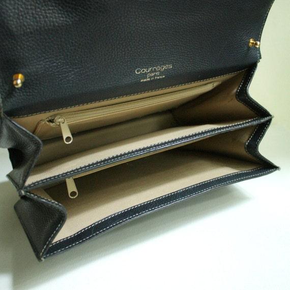 Courreges leather bag briefcase