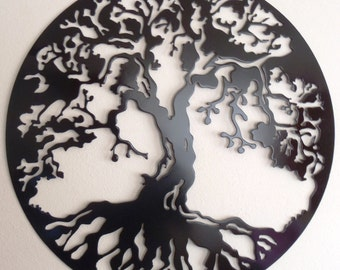 "Tree Of Life, 40""  Wall decor, Metal Art - BLACK,"