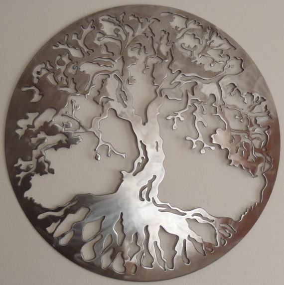 tree of life metal art wall decor. Black Bedroom Furniture Sets. Home Design Ideas