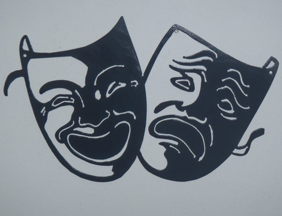 Comedy and Tragedy Home Theater Metal Wall Decor, Metal art