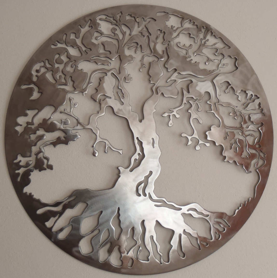 Tree of life metal art wall decor for Decor mural metal