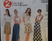 McCalls 2029 Two Hour  A-line Skirt