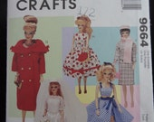 McCalls Crafts 9664 Vintage Inspired Doll Clothing